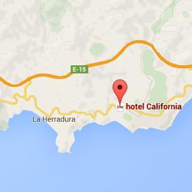 Almunecar Spain Map.Hotel California Spain Map