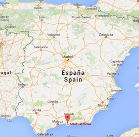 Hotel California Spain Kaart